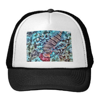 Abstract Lion Fish Cap