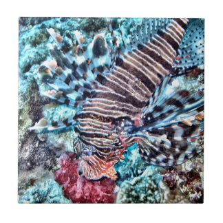 Abstract Lion Fish Ceramic Tile