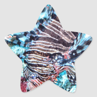 Abstract Lion Fish Star Sticker