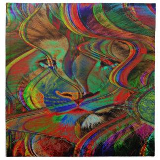 Abstract Lion Napkin
