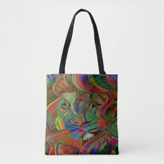 Abstract Lion Tote Bag
