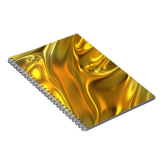 Abstract Liquid Gold Notebook