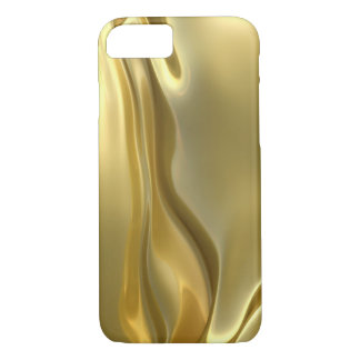 abstract liquid gold satin iPhone 8/7 case