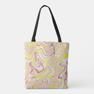 Abstract liquid pattern tote bag