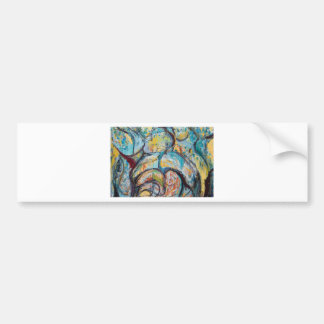 Abstract Living Fossils (abstract expressionism) Bumper Sticker