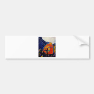 Abstract Loco Motive by Piliero Bumper Sticker