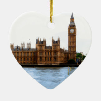 abstract london - westminster ceramic heart decoration