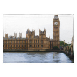abstract london - westminster placemat