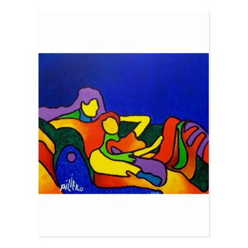 Abstract Love by Piliero Post Card