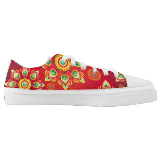 Abstract Low Cut Printed Shoes