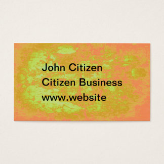 Abstract luminous yellow and orange bark texture business card