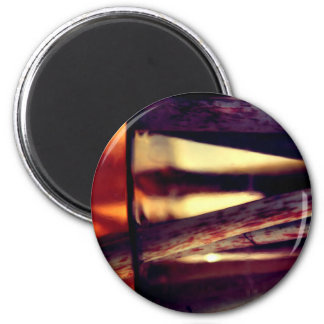 Abstract macro 6 cm round magnet