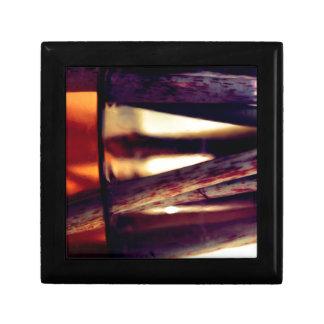 Abstract macro gift box