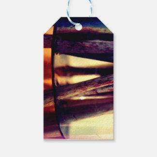Abstract macro gift tags