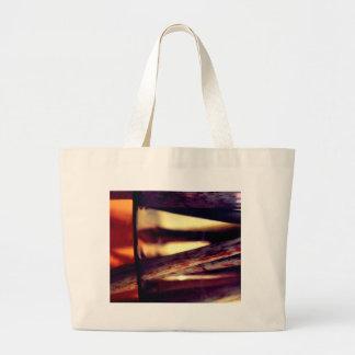 Abstract macro large tote bag