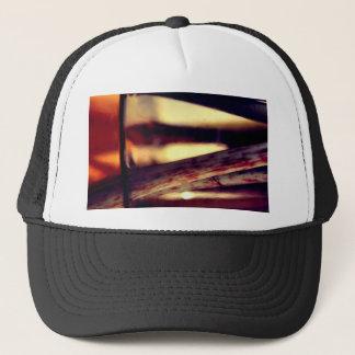 Abstract macro trucker hat