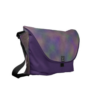 Abstract Magenta Purple Gold Green Commuter Bag