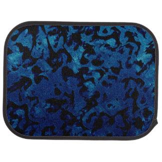 Abstract Magic - Navy Blue Grunge Black Car Mat