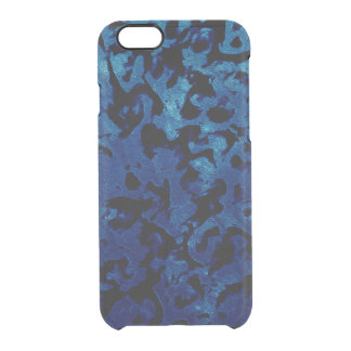 Abstract Magic - Navy Blue Grunge Black Clear iPhone 6/6S Case