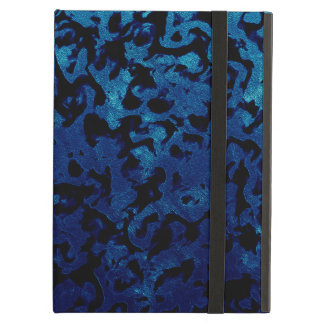 Abstract Magic - Navy Blue Grunge Black Cover For iPad Air