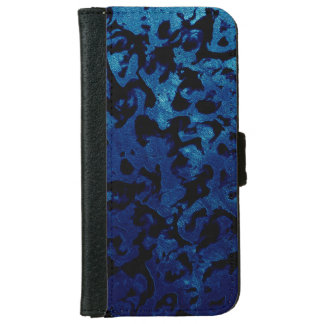 Abstract Magic - Navy Blue Grunge Black iPhone 6 Wallet Case