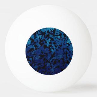 Abstract Magic - Navy Blue Grunge Black Ping Pong Ball