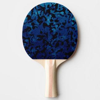Abstract Magic - Navy Blue Grunge Black Ping Pong Paddle