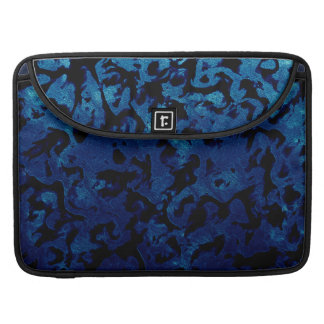 Abstract Magic - Navy Blue Grunge Black Sleeve For MacBook Pro