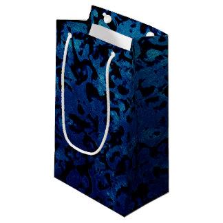 Abstract Magic - Navy Blue Grunge Black Small Gift Bag