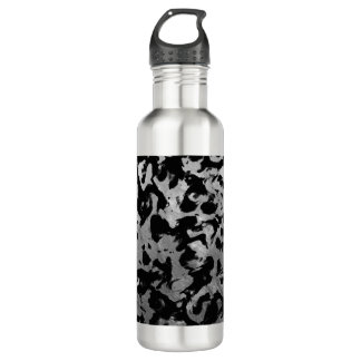 Abstract Magic - Silver Black 710 Ml Water Bottle
