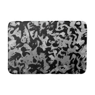 Abstract Magic - Silver Black Bath Mat