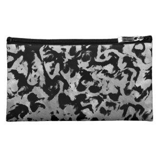 Abstract Magic - Silver Black Cosmetic Bag