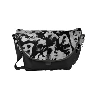 Abstract Magic - Silver Black Courier Bag