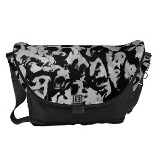 Abstract Magic - Silver Black Courier Bags