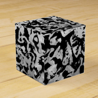 Abstract Magic - Silver Black Favour Box
