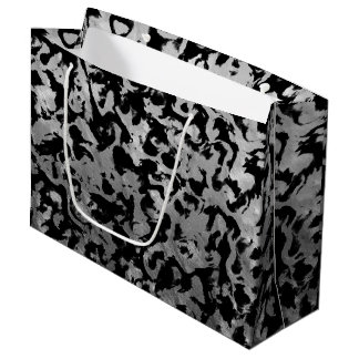 Abstract Magic - Silver Black Large Gift Bag