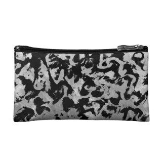 Abstract Magic - Silver Black Makeup Bag