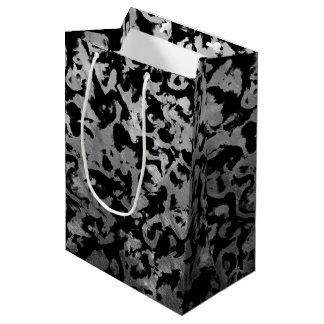 Abstract Magic - Silver Black Medium Gift Bag