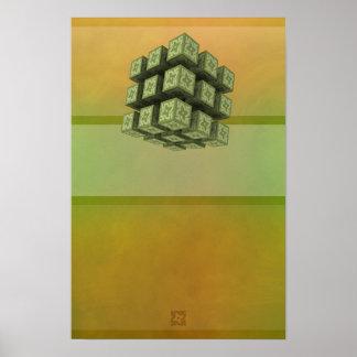 Abstract Magnetism 04 Mod 01 : Beginner's Mind Poster