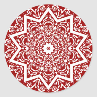 Abstract Mandala Design Classic Round Sticker
