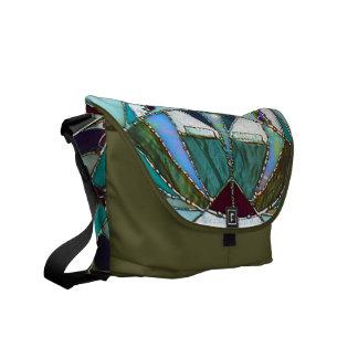 Abstract Mandala Fine Art Messenger Bag