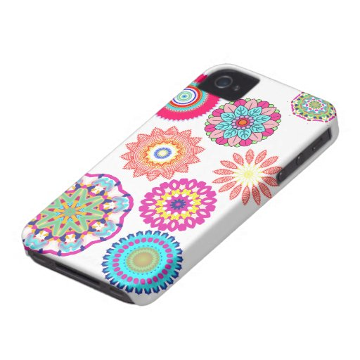 Abstract mandala floral pattern iphone cases iPhone 4 covers