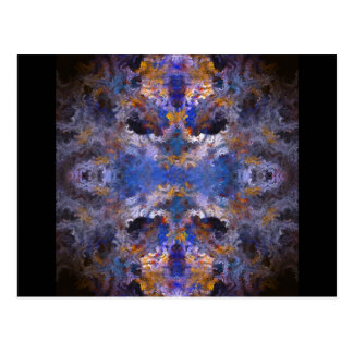 Abstract Mandala Postcard
