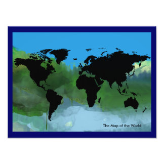 abstract map of the world photographic print