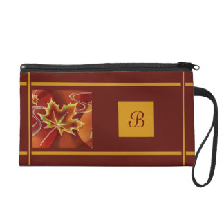 Abstract Maple Leaf Wristlet