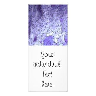 abstract maps blue customized rack card