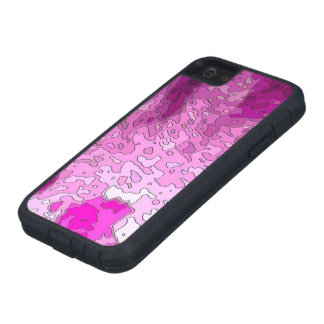 abstract maps neon pink iPhone 5 case