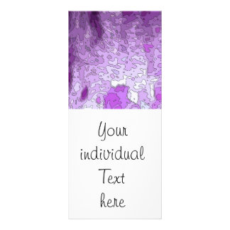 abstract maps purple personalized rack card