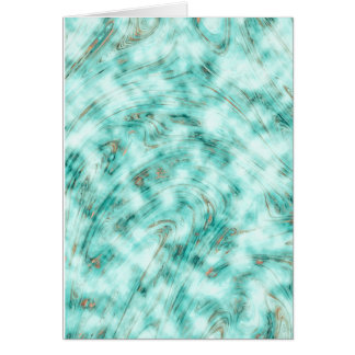 Abstract marble blue card