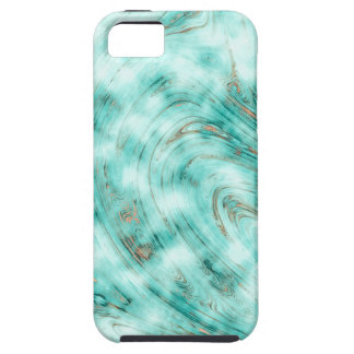 Abstract marble blue case for the iPhone 5